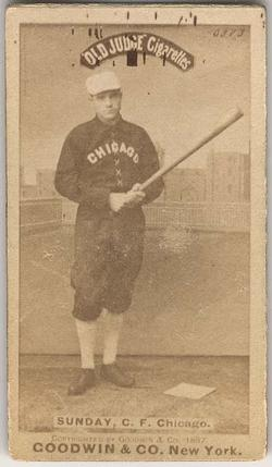 Billy Sunday Baseball Cards Stats
